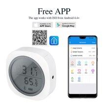 Sıcak IBS TH1 artı kablosuz Bluetooth termometre ve higrometre Android ve IOS telefonu için kullanılan bira için et tesisi puro depolama