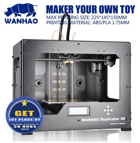 Wanhao Granding Metal Duplicator 4S Wanhao D4S 3d printer double extruder with free filaments memory card
