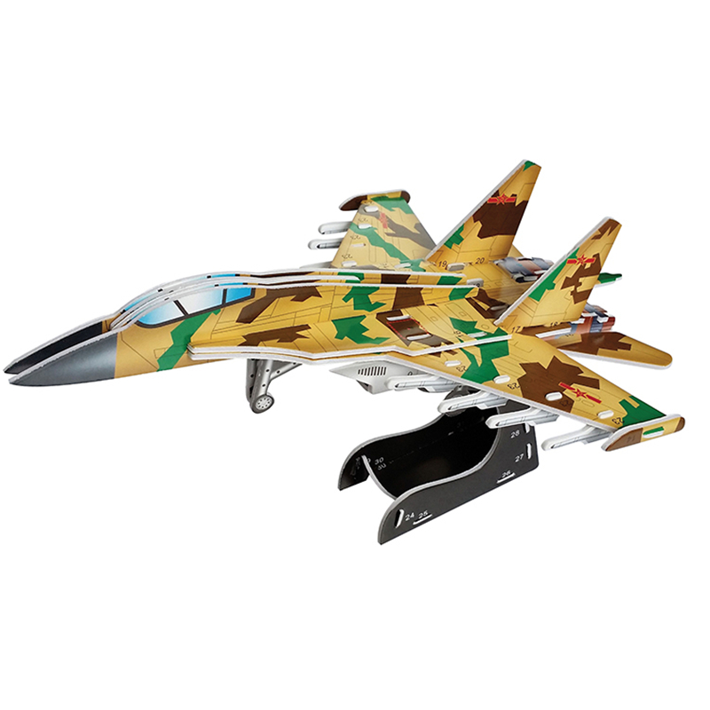 3D Puzzle Diy Building Construction Toys Card Model Building Sets Safe Foam War II Aircraft Tank Camouflage Car Toys For Kids