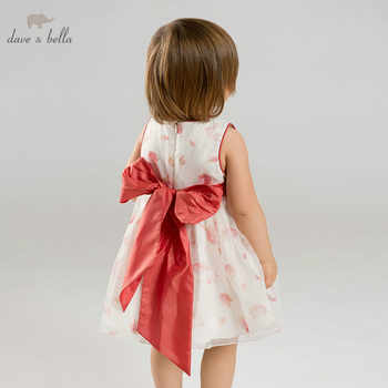DB9066 DAVE BELLA summer baby girl princess clothes children birthday party wedding dress big bow boutique floral dresses - DISCOUNT ITEM  50 OFF Mother & Kids