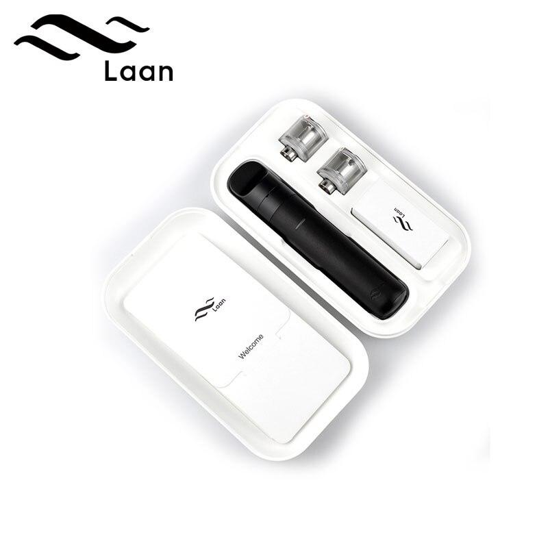 Narguilé électronique Shanlaan Laan Pod Kit 1300 mAh batterie 40 w système de dosette vaporisateur E Cigarette avec 2 ml cartouche Vape stylos