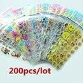 Пузырь наклейки 200 Листов/Set Смешанная 3D Пены Дети Симпатичные Наклейки Пухлые Наклейки Детей DIY Игрушки для Девочек/Мальчиков Подарок на день рождения