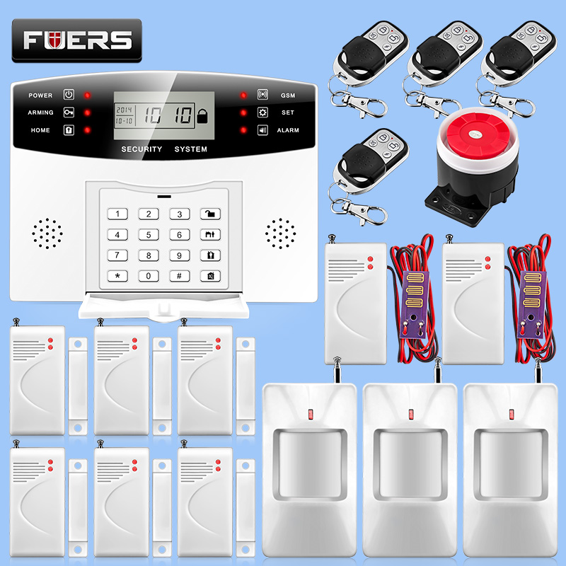 Wired & Wireless GSM Alarm System Smart Home Burglar Security Water Leakage Kit Russian /English Voice Guide Two Way Intercom