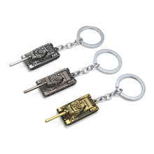 Men Strap Wot Game World of Tanks KeyChain Alloy Metal Tank Model Pendent Keyring gift key chain ring holder car Fans souvenirs