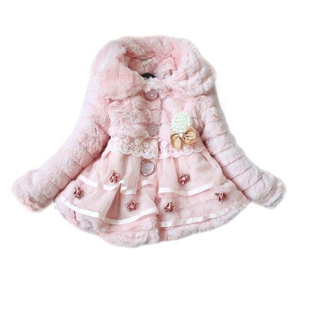 Девушки детей куртка ватки театрализованное пальто зимняя куртка рождественский Snowsuit ну вечеринку 1 - 5 т