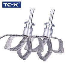 TC-X 2 PCS 7000LM Per Set H1 H7 H4 H11 9005 H1 9006 LED Headlights Copper Braiding HID Original Bulbs Replacement LED Car Light