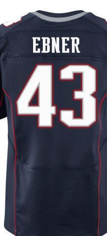 pretty nice 12544 ab200 Men's #43 Nate Ebner Jersey Elite Red/White/Blue 100% Stitched Name And  Number Free Shipping!