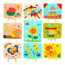 Baby Toys Wood Board Painting Drawing Coloring Children Creative Doodles Early Learning Educational for