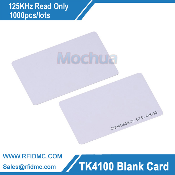 125KHZ RFID Card EM4100 CARD Proximity Card 125KHz Card Fit For Access Control Time Attendance--1000pcs/lot