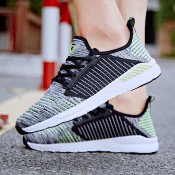 Summer Men Shoes Lac up Mesh Men Casual Shoes Lightweight Comfortable Breathable Couple Walking Sneakers