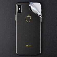DIY ПВХ задняя пленка протектор для iphone X 8 8 Plus камера край задняя защита дизайн не чехол матовая металлическая текстура