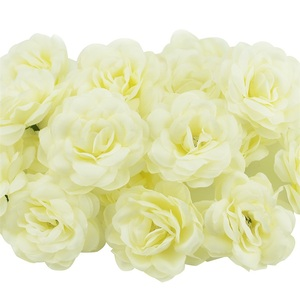 Image 5 - 100Pcs 7 ซม.Roseดอกไม้ประดิษฐ์Roseดอกไม้สำหรับงานแต่งงานตกแต่งDIYพวงหรีดอุปกรณ์เสริมหัตถกรรมปลอมดอกไม้