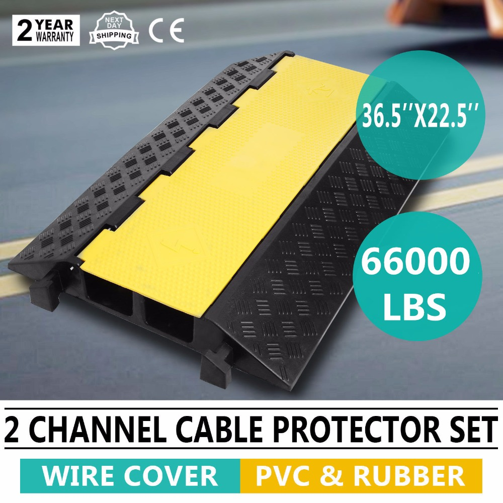 Durable 2 Channels Outdoor Cable Ramp Cover Wire Protector Wiring Pvc