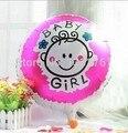 Девочка воздушный шар 1-й День рождения игрушка для дня рождения надувные воздушные шары 100 шт воздушные шары из фольги