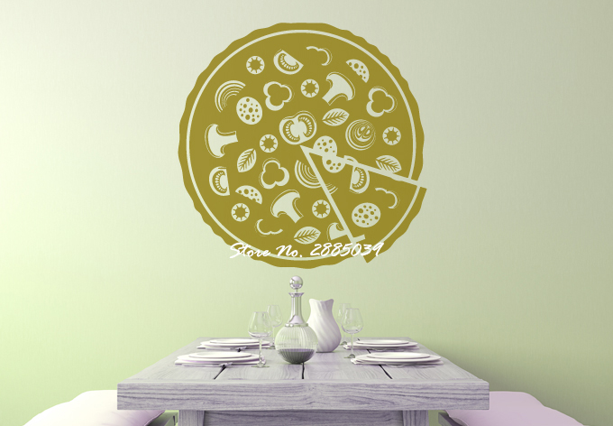Have a slice of a Pizza DIY Self-Adhesive Wall Decal Living Room Dining Room Kitchen Home Decor Art Design Wall Stickers LA320
