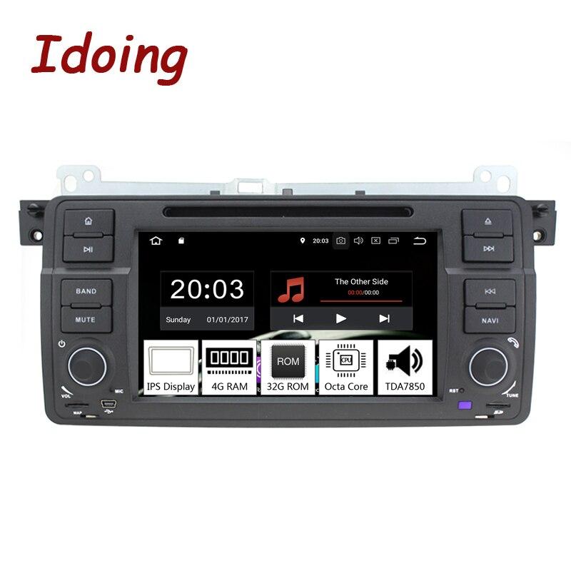 Je fais 7 1Din Andriod 8.0 AUTORADIO DVD lecteur Multimédia POUR BMW E46/320/325 PX5 4 GB + 32G Huit Core IPS Écran navigation gps