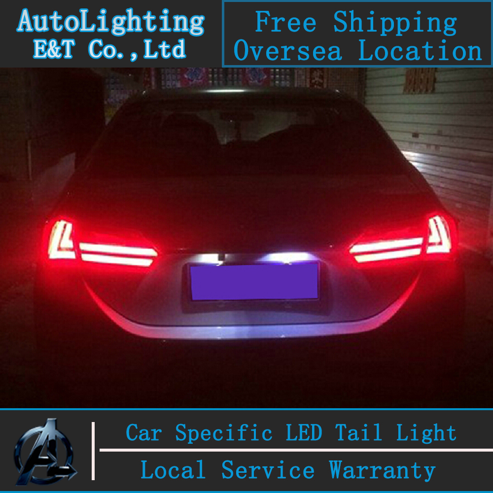 Auto Lighting Style LED Tail Lamp for Toyota New Corolla tail lights 2014 Altis drl rear trunk lamp cover signal+brake+reverse купить