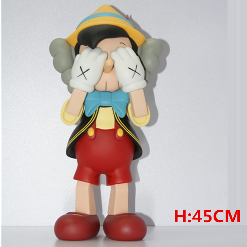 18 Inches KAWS Pinocchio Companion And Jiminy Cricket With Box New Medicom Toy Action Figure Collection Model Giocattolo G108718 Inches KAWS Pinocchio Companion And Jiminy Cricket With Box New Medicom Toy Action Figure Collection Model Giocattolo G1087