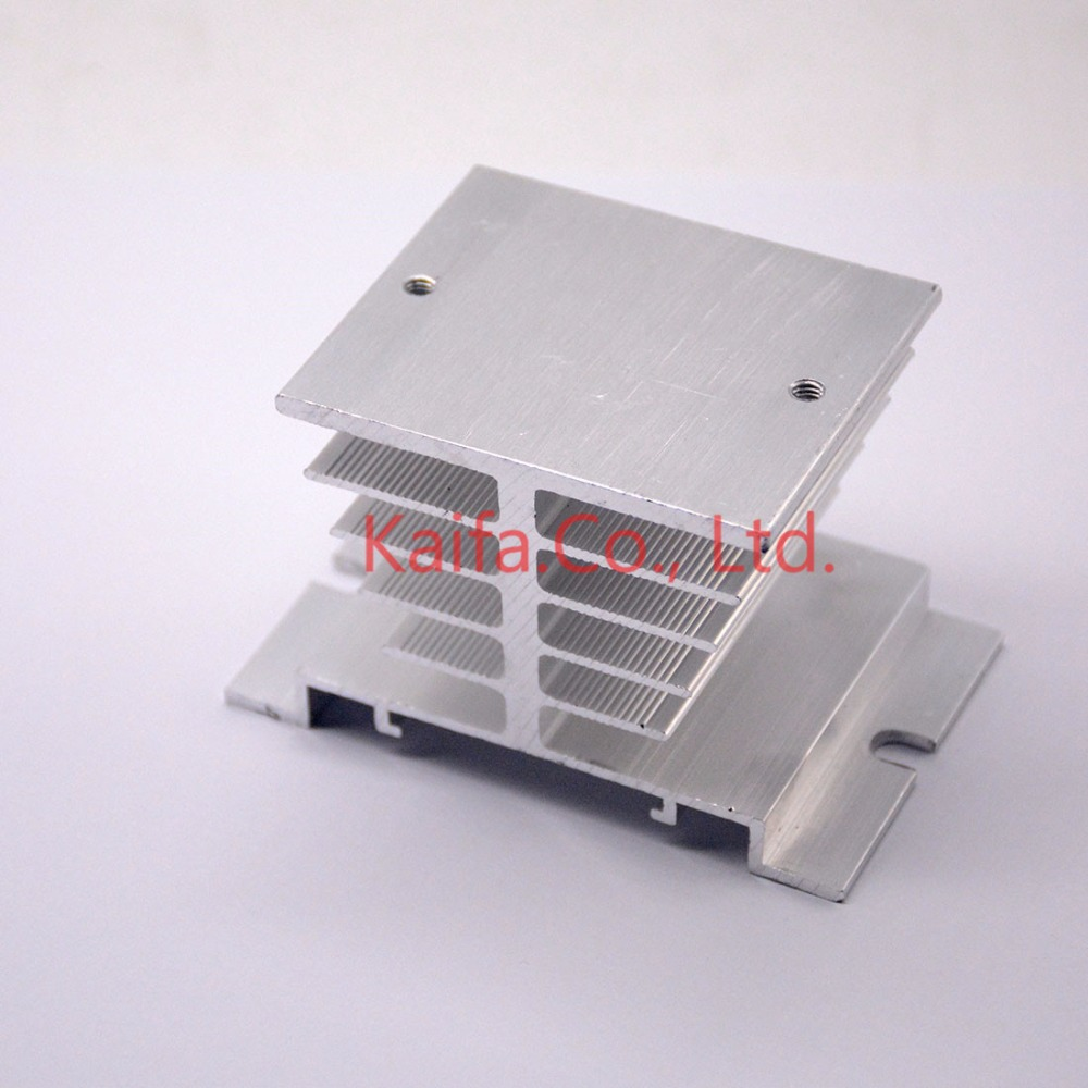 1pc Single Phase Solid State Relay SSR Aluminum Heat Sink Dissipation Radiator Newest,Suitable for 10A-40A relay ssr 40da single phase solid state relay white silver