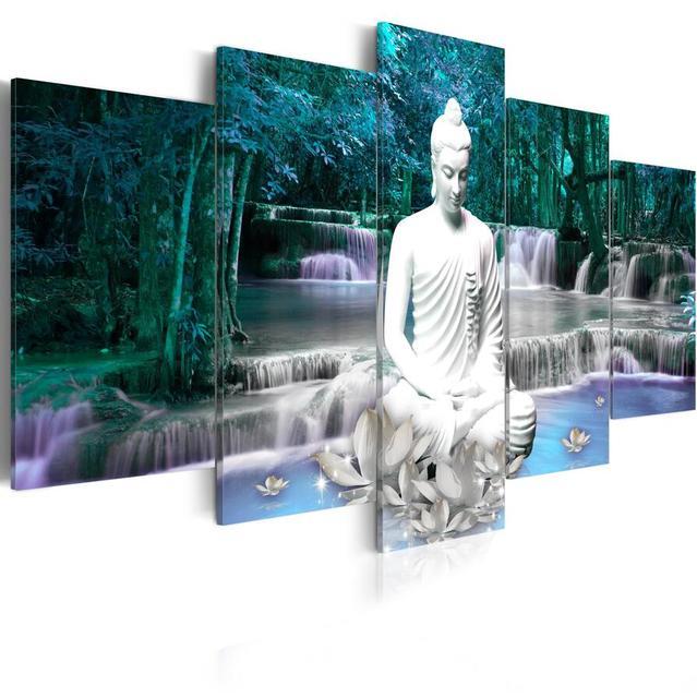 Lotus Buddha Landscape Wall Art