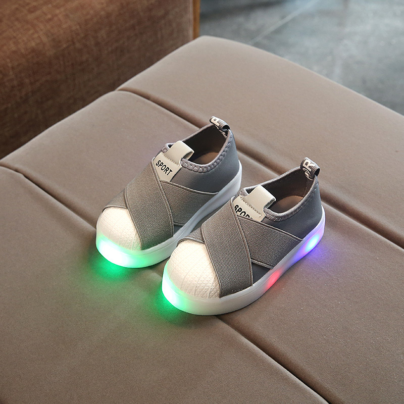 Kids Led Sneakers Breathable Children Sports Shoes For Baby Girls Boys Luminous Shoes With Light Size 21-30 An Enriches And Nutrient For The Liver And Kidney