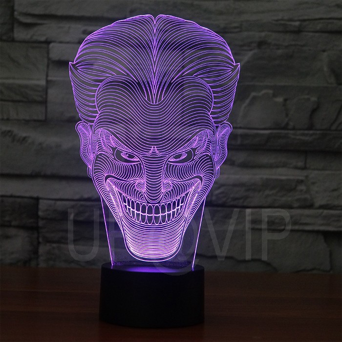 JC-2832  Amazing 3D Illusion led Table  Lamp Night Light with joker shape   (5)