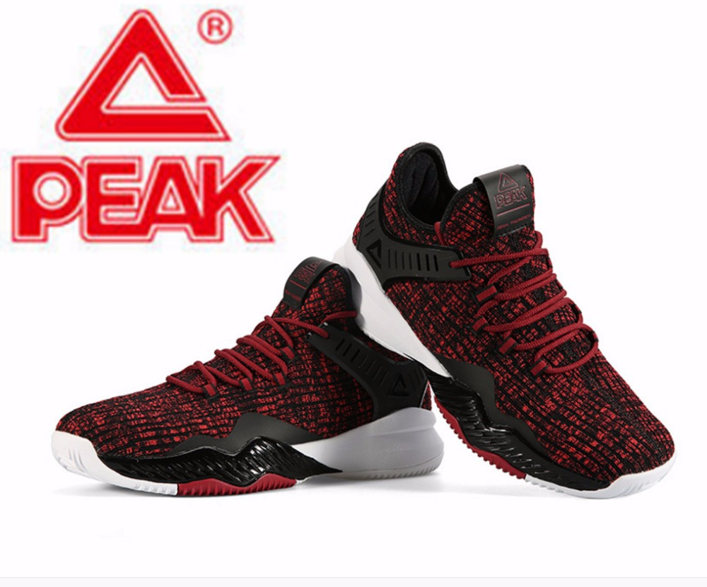 fa3d846812c Peak basketball shoes 2018 winter new men s shoes lightweight classic one  woven comfortable non slip wear resistant sneakers-in Basketball Shoes from  Sports ...