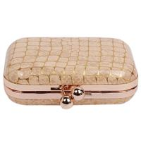 New Arrive Lady Leather Handbag Fashion Women Evening Bag Stone Pattern Shoulder Bags Bride Europe 642322
