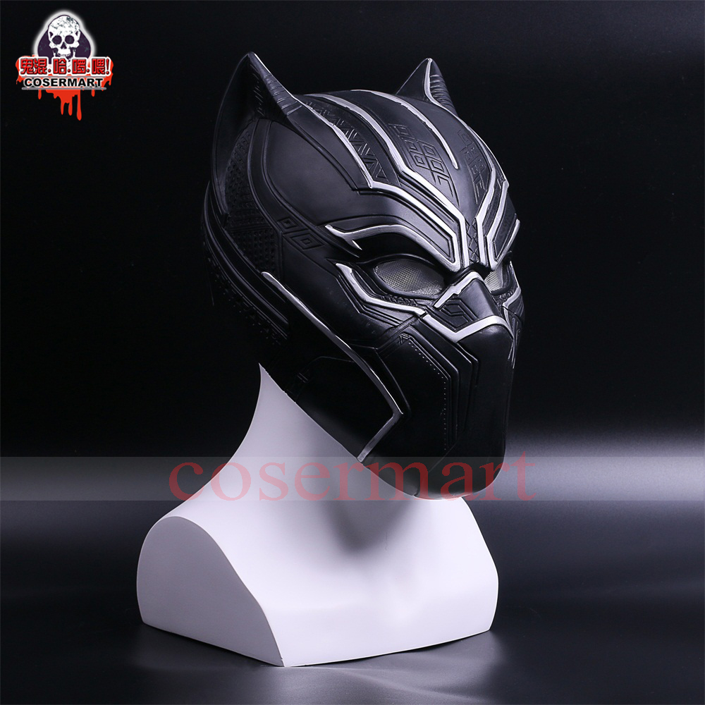 2017 New Captain America Helmet Black Panther Helmet  Civil War Cosplay Mask  Halloween Party Prop (5)