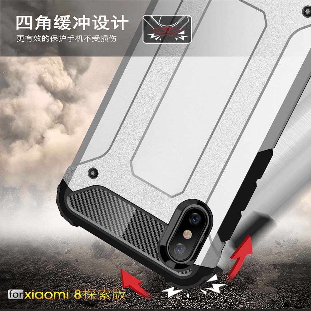 جراب من Coque طراز 6.21For Xiao mi 8 Pro حافظة لهاتف Xiao mi 8 mi 8 Pro Explorer Edition 8Pro mi 8pro غلاف خلفي للهاتف