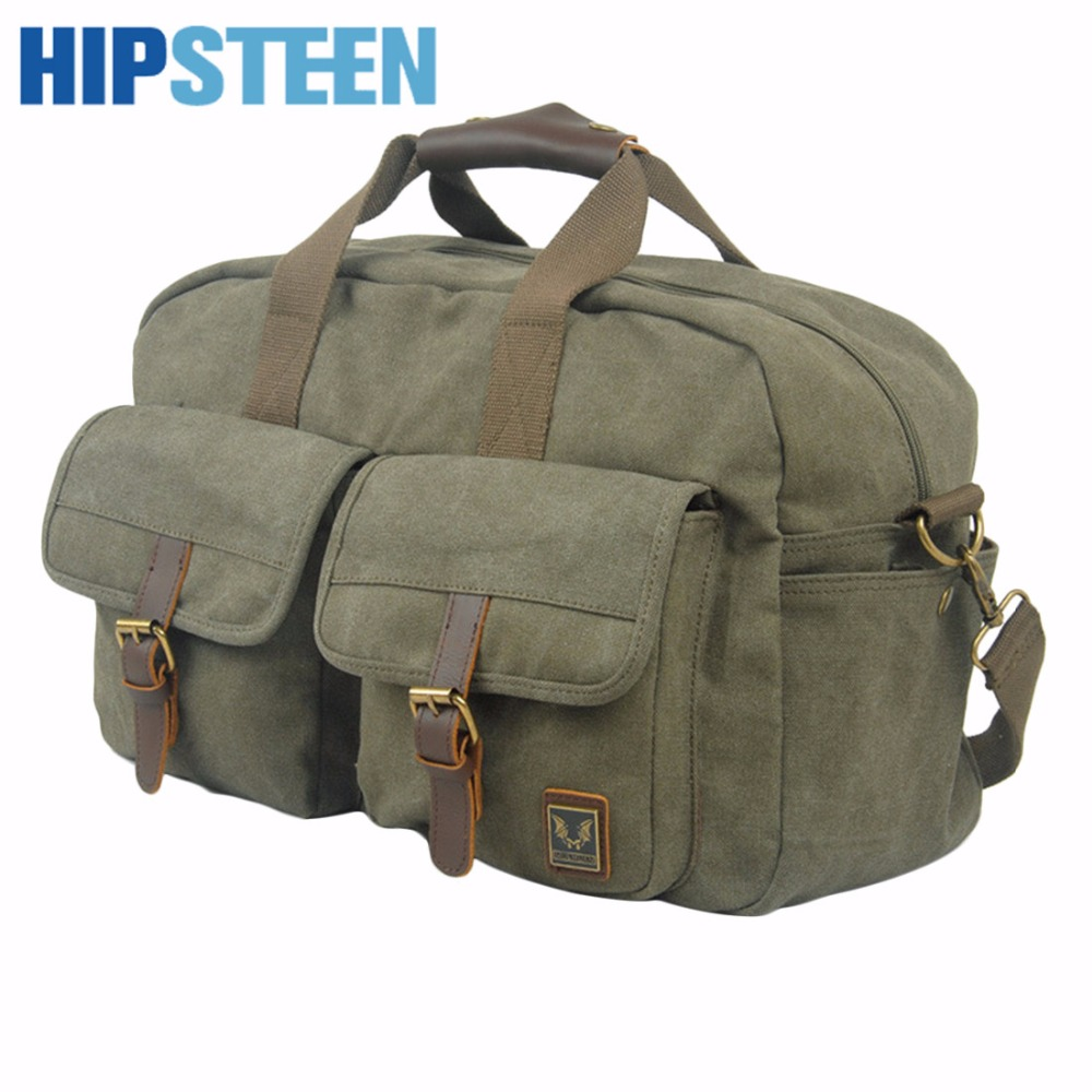 HIPSTEEN Canvas Big Bag With Large Capacity Travel Bag For Women Men Duffle Bags Foldable Luggage Hand Travel Bags Top Popular forudesigns brand multi function men s travel bags big eyes journey bags with strap large capacity organizer travel duffle bag