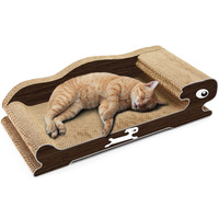 Pet Dog Cat Bed Corrugated Paper Scratch Playing Board Cushion Litter Cats House Bed Cat Tray Sofa Pet Mat Toys for Small Dogs