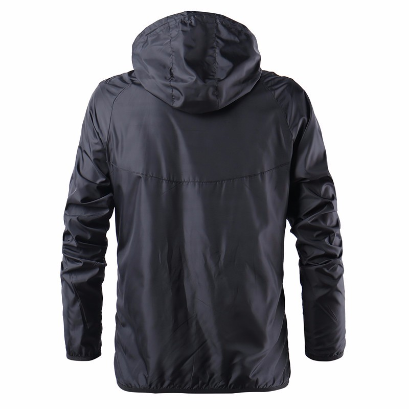 Mens Fashion Outerwear Windbreaker Thin Jackets Hooded Casual Sporting Coat 28