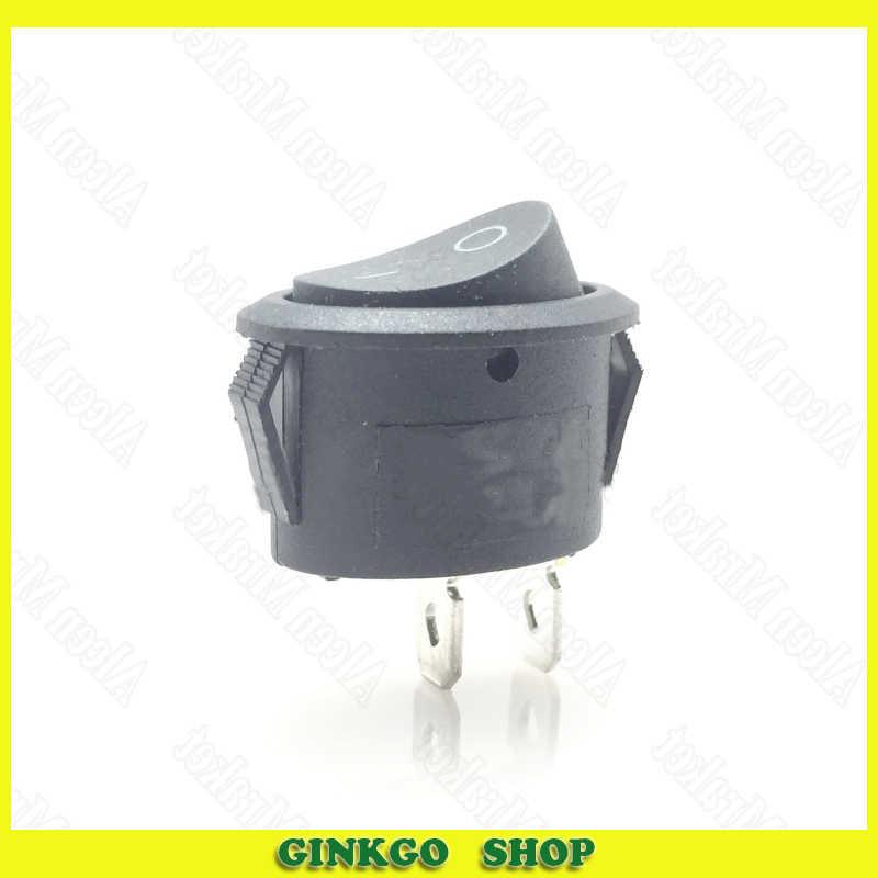 30pcs/lot Ellipse Rocker Switch KCD1-3 KCD-103 Power Socket 2Foot 2File