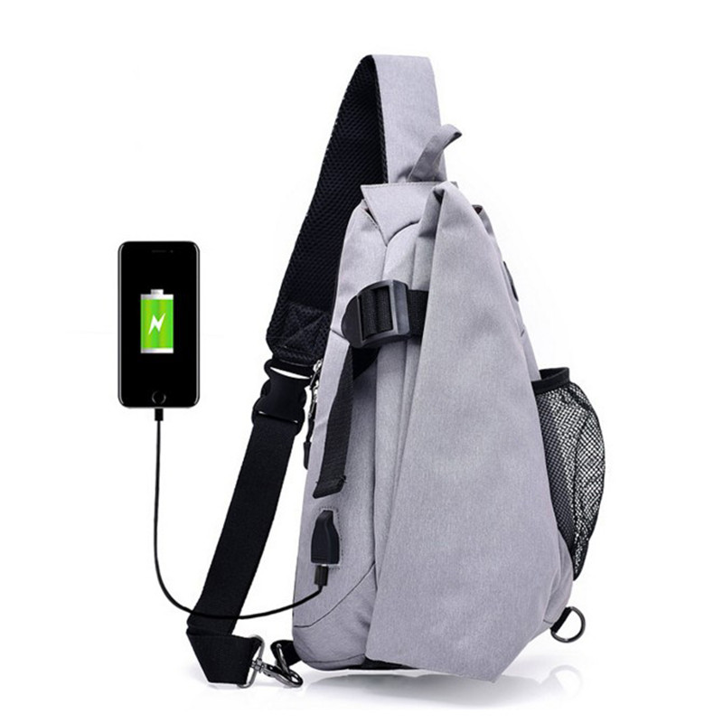 KAKA 2018 New Arrival Male Shoulder Bags USB Charging Crossbody Bags Men Anti theft Chest Bag Summer Short Trip best backpack