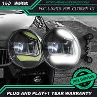 For Citroen c4 2004 2009 LR2 Car styling front bumper LED fog Lights high brightness fog lamps 1set