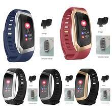 Moda e18 ip67 tela colorida à prova dip67 água monitor de pressão arterial freqüência cardíaca pulseira inteligente esportes monitor de fitness
