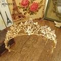Fashion Golden Color Baroque Bridal Crowns Branches Leaf Wedding Tiara Girls Hair Acessorios De Cabelo SQ061
