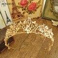 Moda Cor Dourada Barroca Coroas Nupciais Ramos Folha Tiara Do Casamento Meninas Cabelo Acessorios de cabelo SQ061
