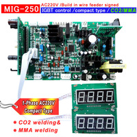 NEW CO2 MIG 250 Build in wire feeder compact type IGBT welding machine control plate pcb circuit board AC220V