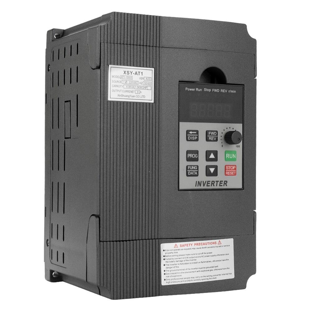 Convertisseur de fréquence Variable AC 220 V 1.5KW/2.2KW convertisseur de fréquence convertisseur de vitesse VFD