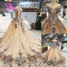 AIJINGYU الزفاف فساتين سويسرا أنبوب أثواب الأبيض الكرة أفضل Bridals ريال صور الرباط ثوب الزفاف متعرج