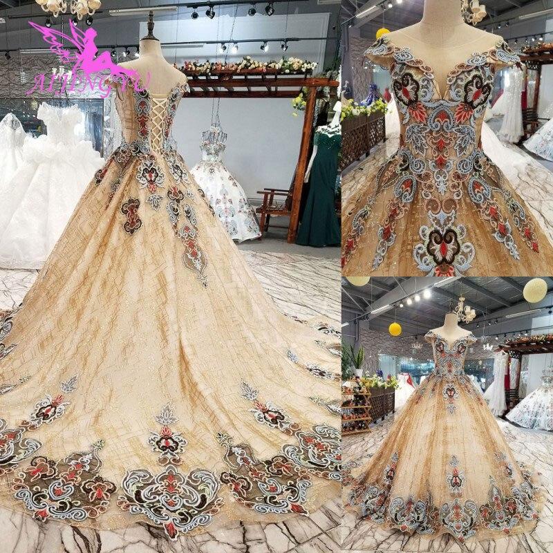 AIJINGYU Wedding Dresses Switzerland Tube Gowns White Ball