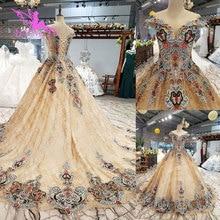 Свадебные платья AIJINGYU, Белые Бальные платья без рукавов, реальные фотографии, кружевное платье для свадьбы
