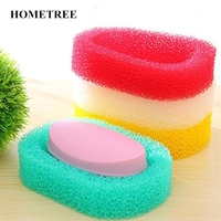 HOMETREE 2Pc Bathroom Set Sponge Soap Dishes Box Absorbent Easy To Dry Soap Holder Travel Kitchen Home Accessories Soap Dish H98