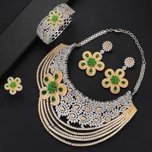 SisCathy 4pc Statement Big Jewelry sets For Women Luxury Cubic Zircon CZ African Dubai Wedding Bridal Jewelry Sets 2019 цены