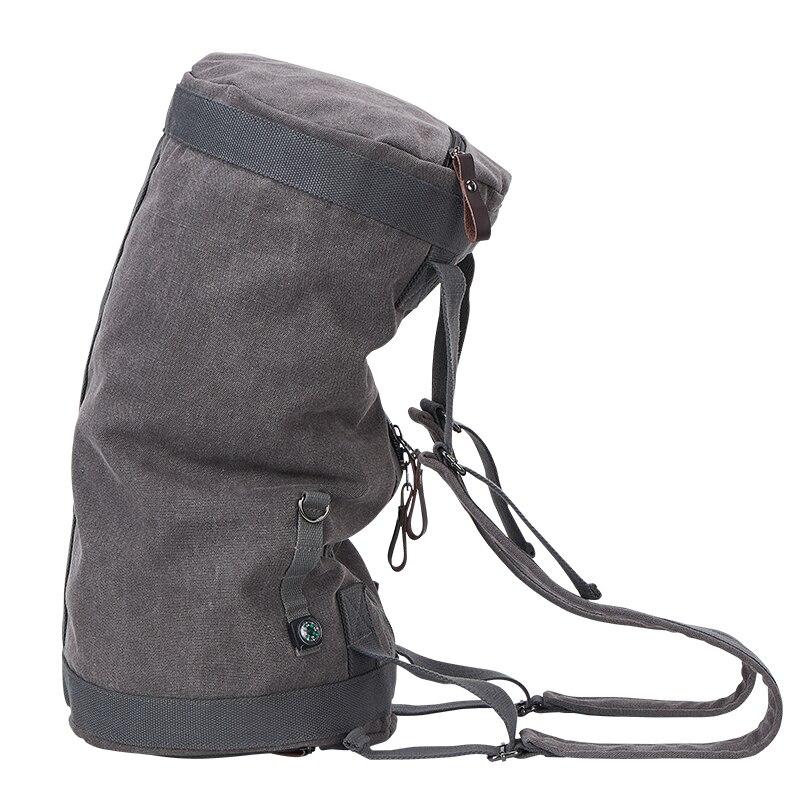 Nouveau 2019 grande capacité sac de voyage homme alpinisme sac à dos mâle bagages étanche toile seau sacs à bandoulière hommes sacs à dos