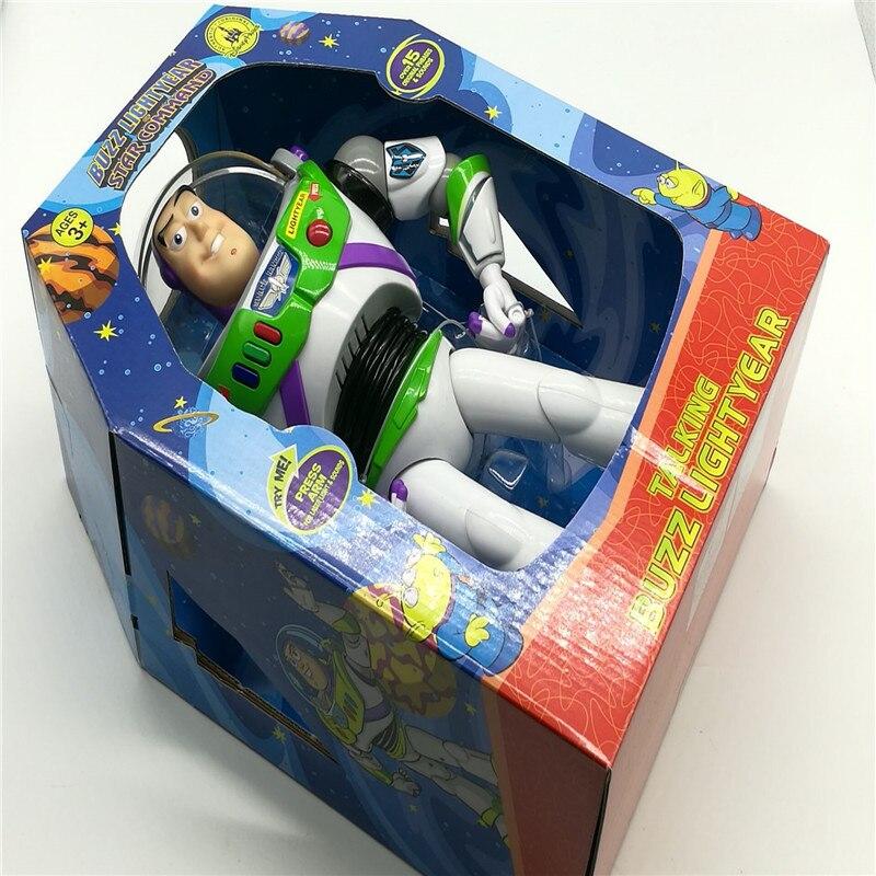 30cm brinquedo história 3 falando buzz lightyear pvc figura de ação collectible boneca brinquedos presente para crianças natal falando brinquedos