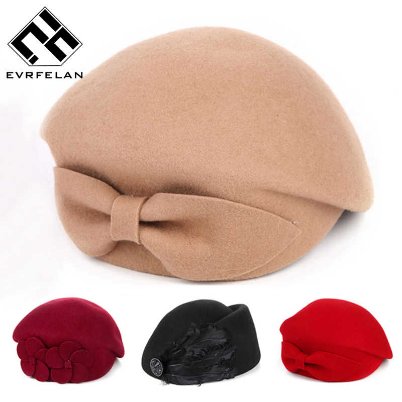 ba31b97736033 2019 New Fashion Brand Winter Beret Hat For Women Beret Hat Female Beanie  Cap Flower French