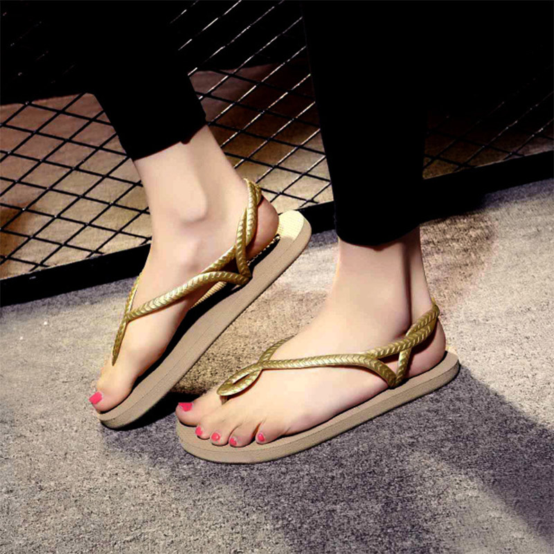 TINO KINO Women Flat Summer Sandals New 2019 Female Ankle Strap Slip On Clip Toe Shoes Ladies Fashion Casual Flip FlopsTINO KINO Women Flat Summer Sandals New 2019 Female Ankle Strap Slip On Clip Toe Shoes Ladies Fashion Casual Flip Flops